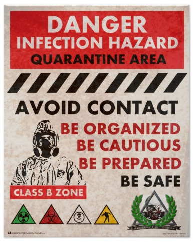 Infection Hazard Poster