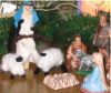 We added this sheperd and sheep to the creche