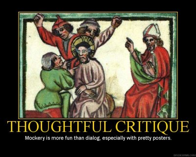 Thoughtful Critique Motivational Poster