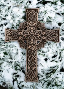 Cross with Celtic pattern