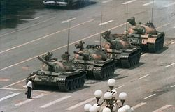 Tiananmen Square Student meets Tank