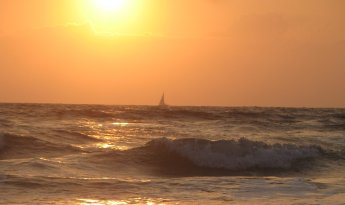 Sunrise Sailboat off Ormond Beach
