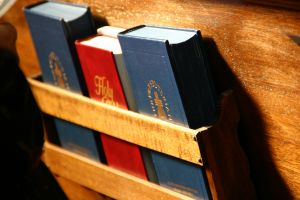 Hymnals in Pew