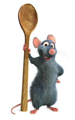 Ratatouille: Remy with spoon