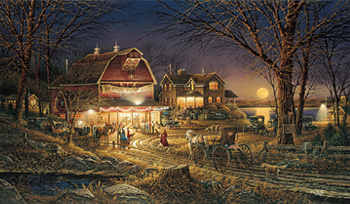 Terry Redlin:  Harvest Moon Ball