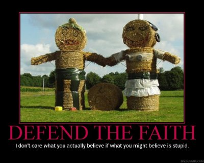 Defend the Faith Motivational Poster