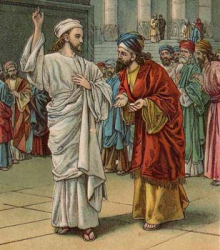 Jesus with Pharisees